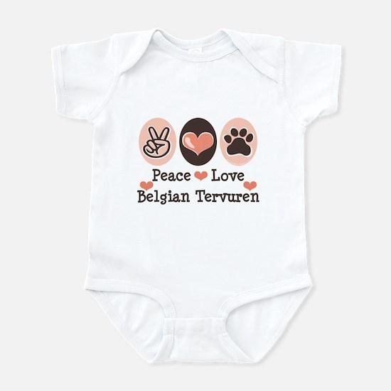 Peace Love Belgian Tervuren Infant Bodysuit