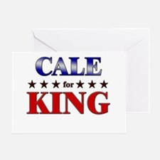 CALE for king Greeting Card