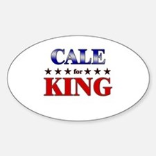 CALE for king Oval Decal