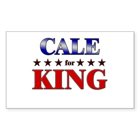 CALE for king Rectangle Sticker