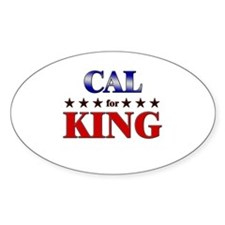 CAL for king Oval Decal