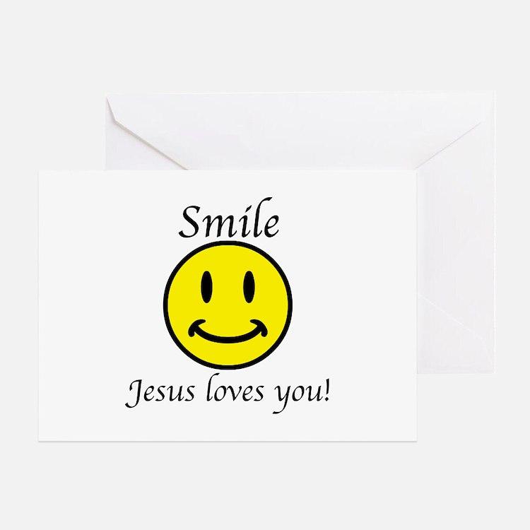 Smile Jesus Greeting Card