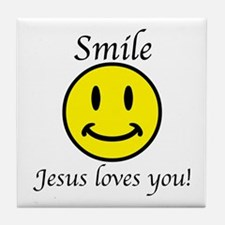 Smile Jesus Tile Coaster