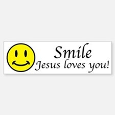 Smile Jesus Bumper Bumper Sticker