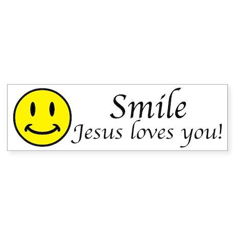 Smile Jesus Bumper Sticker