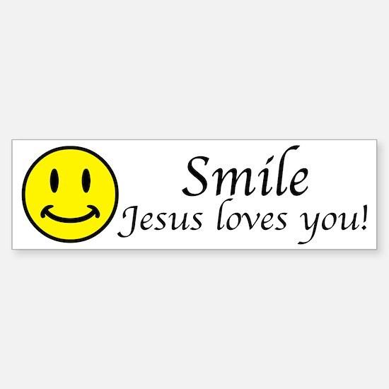 Smile Jesus Sticker (Bumper)