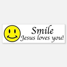 Smile Jesus Stickers
