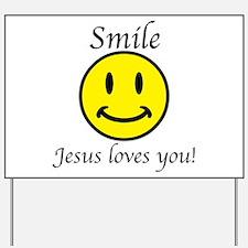 Smile Jesus Yard Sign
