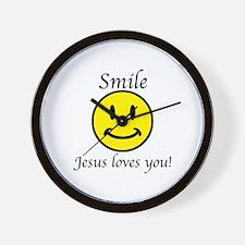 Smile Jesus Wall Clock