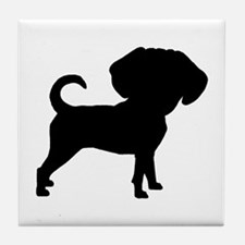 Funny Cute Puggle Tile Coaster