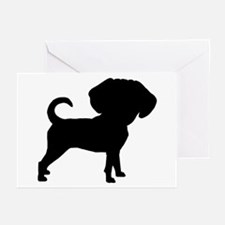 Funny Cute Puggle Greeting Cards (Pk of 10)