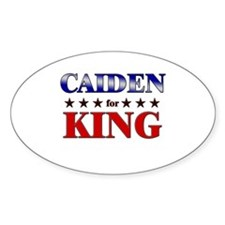 CAIDEN for king Oval Decal