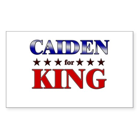 CAIDEN for king Rectangle Sticker