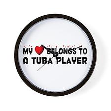 Belongs To A Tuba Player Wall Clock