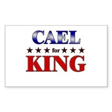 CAEL for king Rectangle Decal