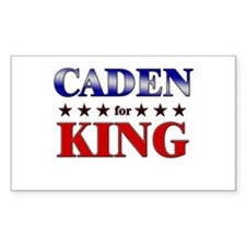CADEN for king Rectangle Decal