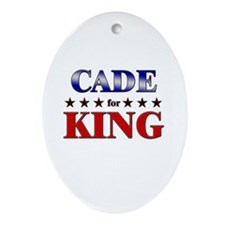 CADE for king Oval Ornament
