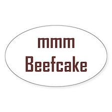 mmm, Beefcake! Oval Decal