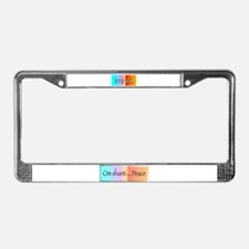 Unique Om License Plate Frame
