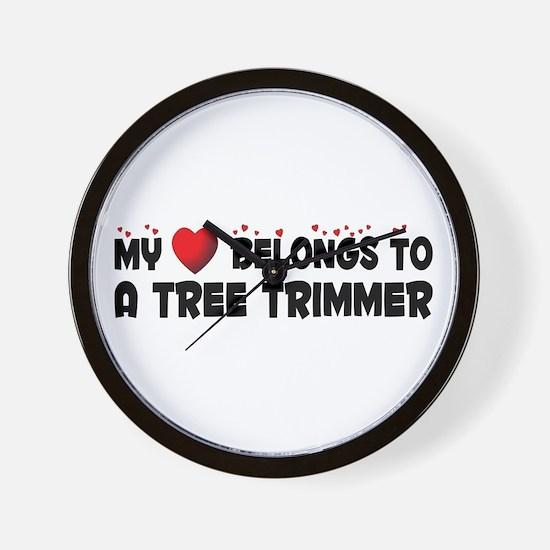 Belongs To A Tree Trimmer Wall Clock