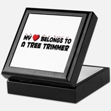 Belongs To A Tree Trimmer Keepsake Box
