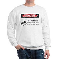 Danger. Do not hold the wrong Sweatshirt