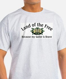 Land of the Free, Sailor Ash Grey T-Shirt
