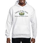 Land of the Free, Coastie Hooded Sweatshirt