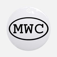 MWC Oval Ornament (Round)
