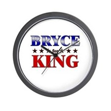 BRYCE for king Wall Clock
