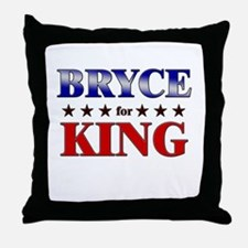 BRYCE for king Throw Pillow