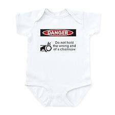Danger. Do not hold the wrong Infant Bodysuit