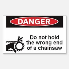 Danger. Do not hold the wrong Sticker (Rectangular