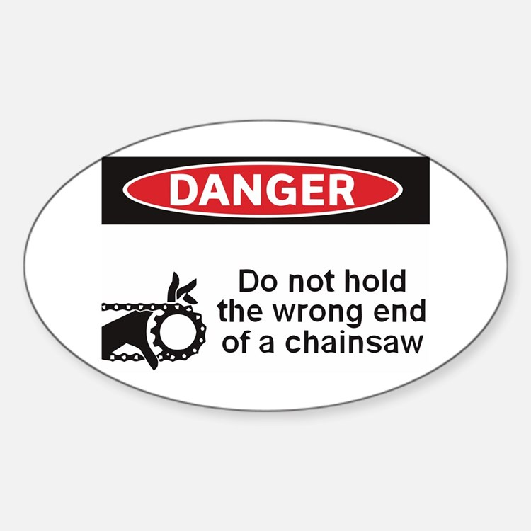 Danger. Do not hold the wrong Oval Decal