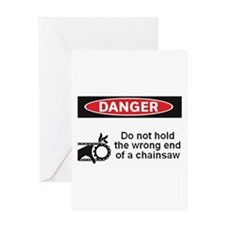Danger. Do not hold the wrong Greeting Card