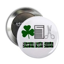 "Shamrock, Paper, Scissors 2.25"" Button"