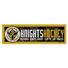 Cal Knights Hockey Bumper Sticker Black