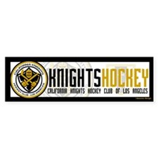 Cal Knights Hockey Bumper Sticker White