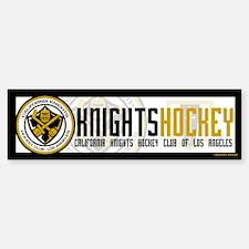 Cal Knights Hockey Bumper Sticker White