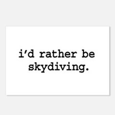 i'd rather be skydiving. Postcards (Package of 8)