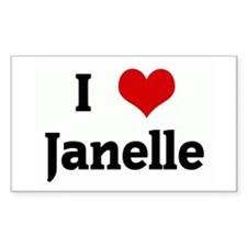 I Love Janelle Rectangle Decal