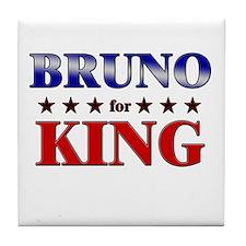 BRUNO for king Tile Coaster