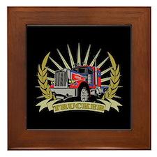 Trucker Gifts Framed Tile