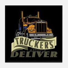 Truckers Deliver 1 Tile Coaster