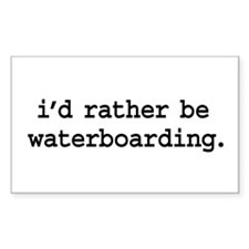i'd rather be waterboarding. Rectangle Decal