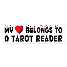 Belongs To A Tarot Reader Bumper Bumper Sticker