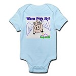 When Pigs Fly Infant Creeper
