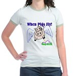 When Pigs Fly Jr. Ringer T-Shirt