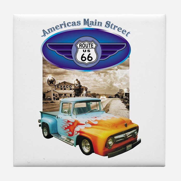 ROUTE 66 Tile Coaster