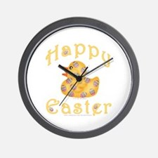 Easter Egg Rubber Duckie Wall Clock